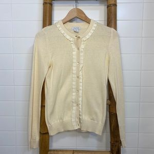 VINTAGE Alfred Sung cream cardigan with trim